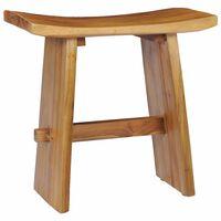 vidaXL Taburet, lemn masiv de tec