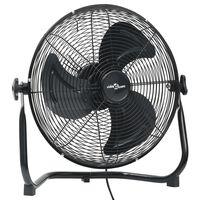 vidaXL Ventilator de podea, 3 viteze, negru, 40 cm, 40 W