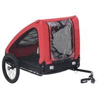 vidaXL Remorcă de bicicletă pentru animale de companie, roșu & negru