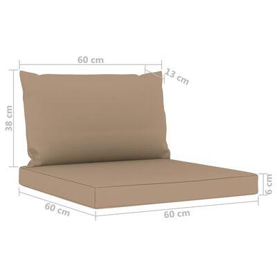 vidaXL Set mobilier de grădină cu perne gri taupe, 9 piese