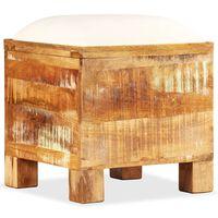 vidaXL Bancă de depozitare, 40 x 40 x 45 cm, lemn masiv reciclat