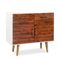 vidaXL Bufet din lemn masiv de acacia, 90 x 33,5 x 83 cm