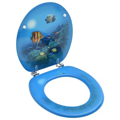 vidaXL Capac WC, MDF, model subacvatic