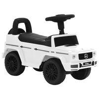 vidaXL Mașinuță pentru pași Mercedes-Benz G63, alb