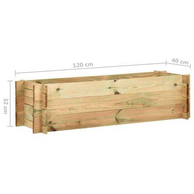 vidaXL Strat înălțat legume grădină, 120 cm, lemn de pin tratat