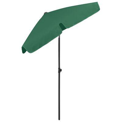 vidaXL Umbrelă de plajă, verde, 180x120 cm