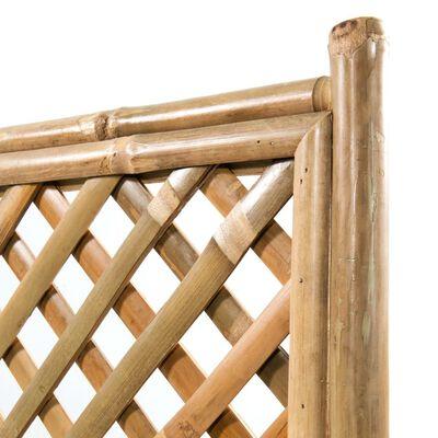 vidaXL Strat înălțat de grădină cu spalier din bambus, 40 cm