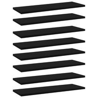 vidaXL Plăci pentru bibliotecă, 8 buc., negru, 60 x 20 x 1,5 cm, PAL