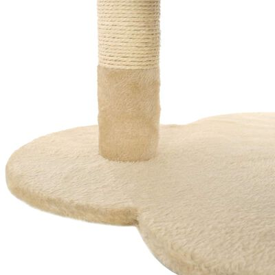 vidaXL Ansamblu pisici cu stâlpi funie sisal, 50 cm, bej și maro