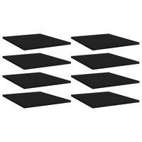 vidaXL Plăci bibliotecă, 8 buc., negru, 40 x 50 x 1,5 cm, PAL