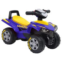 vidaXL ATV ride-on pentru copii Good Year, albastru