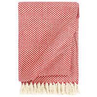 vidaXL Pătură decorativă, roșu, 125 x 150 cm, bumbac