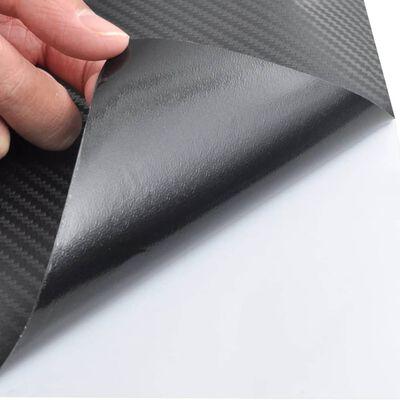 Autocolant folie din fibră de carbon 3D Negru 152 x 200 cm