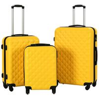 vidaXL Set valiză carcasă rigidă, 3 buc., galben, ABS