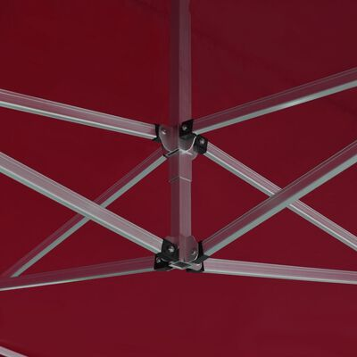 vidaXL Cort de petrecere pliabil profesional roșu vin 4,5x3 m aluminiu