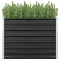 vidaXL Strat înălțat de grădină antracit 100x40x77 cm oțel galvanizat
