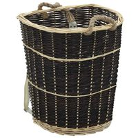 vidaXL Coș lemne foc cu curele de transport natural 57x51x69 cm salcie