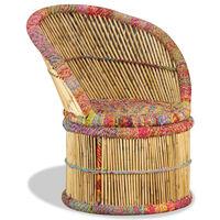 vidaXL Scaun din bambus cu detalii Chindi