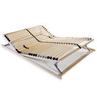 vidaXL Bază de pat cu șipci, 28 șipci, 7 zone, 140 x 200 cm