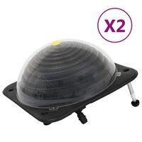vidaXL Încălzitor solar pentru piscină 2 buc. 75x75x36cm HDPE aluminiu