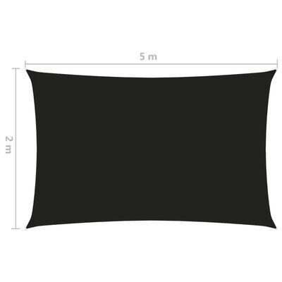 vidaXL Parasolar, negru, 2x5 m, țesătură oxford, dreptunghiular