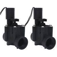 vidaXL Supape solenoid pentru irigare cu apă, 2 buc., AC 24 V