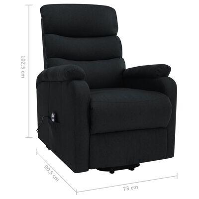 vidaXL Fotoliu de masaj rabatabil vertical, negru, material textil
