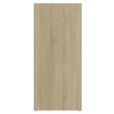 vidaXL Dulap lateral, alb și stejar Sonoma, 97x32x72 cm ,PAL