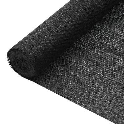 vidaXL Plasă protecție intimitate, negru, 2x25 m, HDPE, 75 g/m²