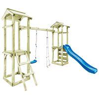 vidaXL Set de joacă din lemn cu scară, tobogan & leagăn 300x197x218cm