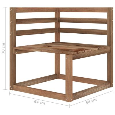 vidaXL Set mobilier de grădină, 6 piese, maro, lemn de pin tratat