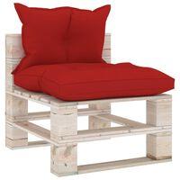 vidaXL Canapea de grădină din paleți, de mijloc, cu perne, lemn de pin