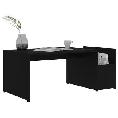 vidaXL Măsuță de cafea, negru, 90x45x35 cm, PAL