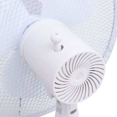 vidaXL Ventilator vertical, alb, Φ40 cm, 120 cm