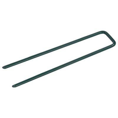 vidaXL Cuie pentru iarbă artificială, 50 buc., fier, în formă de U
