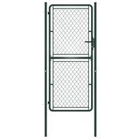 vidaXL Poartă de grădină, verde, 100 x 200 cm, oțel