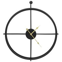 vidaXL Ceas de perete, negru, 52 cm, fier