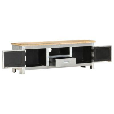 vidaXL Comodă TV aviator, 120 x 30 x 40 cm, lemn masiv de mango