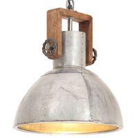 vidaXL Lampă suspendată industrială, 25 W, argintiu, rotund, 30 cm E27