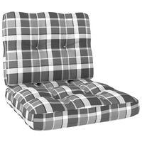 vidaXL Perne de canapea din paleți, 2 buc., gri model carouri