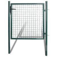 vidaXL Poartă gard simplă din oțel acoperit cu pulbere