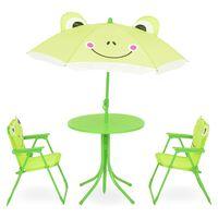 Set 2 scaune, masuta si umbrela copii FROG