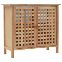 vidaXL Dulap de chiuvetă, lemn masiv de nuc, 66 x 29 x 61 cm