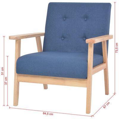 vidaXL Fotoliu, albastru, material textil