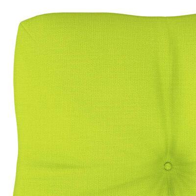 vidaXL Pernă pentru canapea din paleți, verde aprins, 60 x 40 x 12 cm