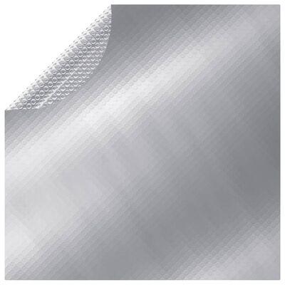 vidaXL Prelată de piscină, argintiu, 527 cm, PE