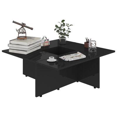 vidaXL Măsuță de cafea, negru extralucios, 79,5x79,5x30 cm, PAL