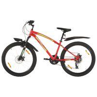 vidaXL Bicicletă montană cu 21 viteze, roată 26 inci, 36 cm, roșu