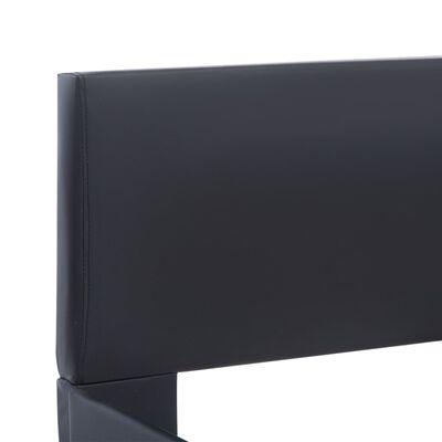 vidaXL Cadru de pat, negru, 160 x 200 cm, piele artificială
