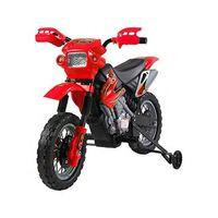 Moto Cross Electric Pentru Copii Cu Role, Roșu